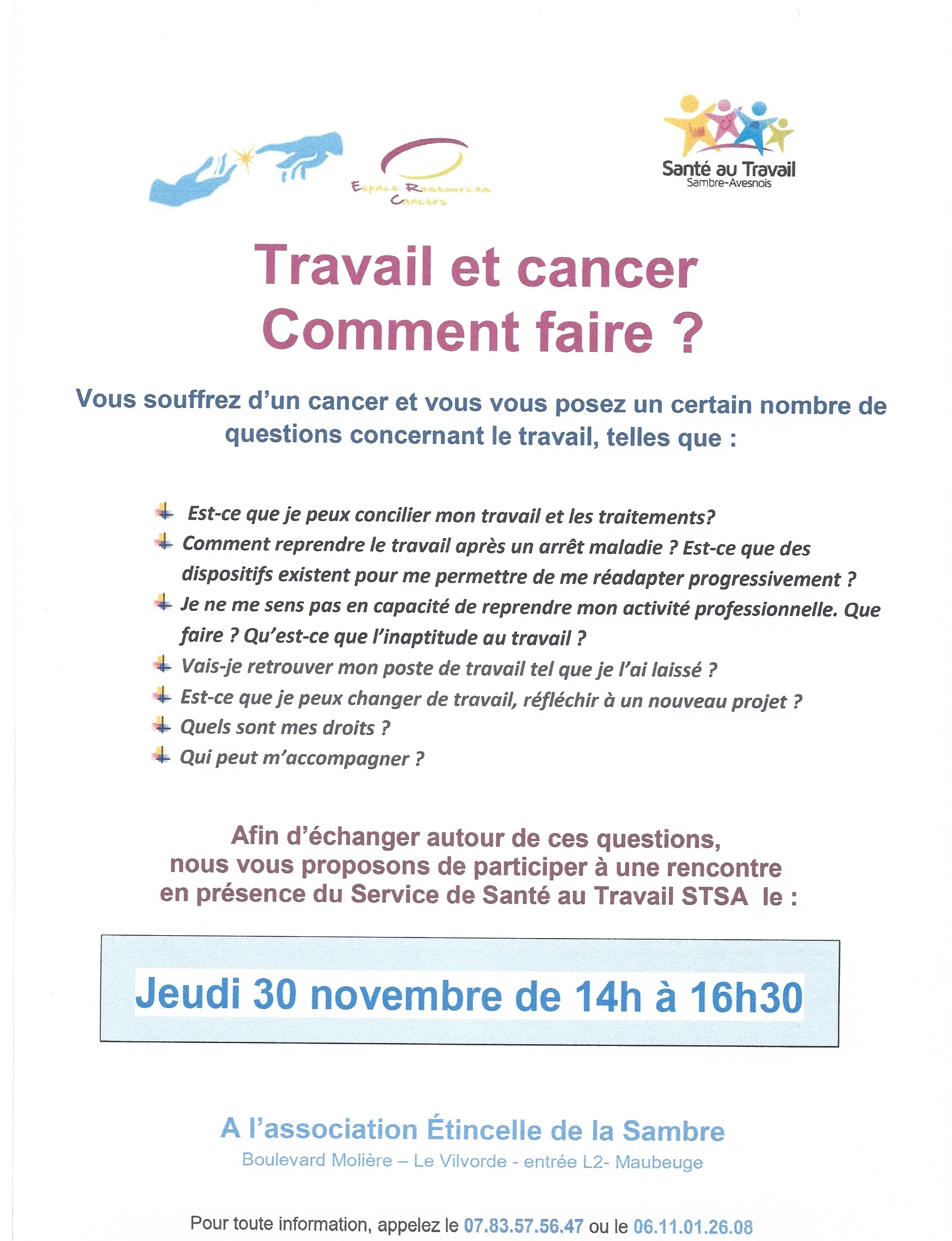 information rencontre cancer